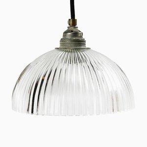 Industrielle Mid-Century Deckenlampe von Holophane