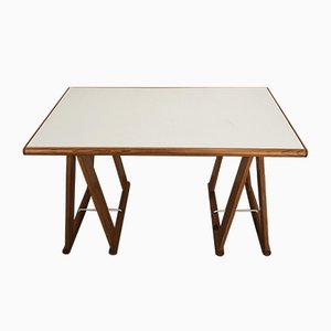Dutch Pine Trestle Table, 1970s