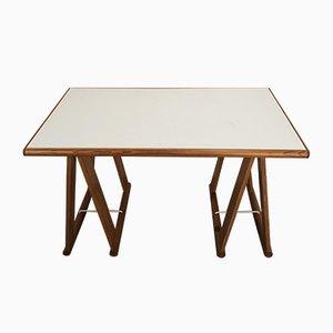 Dutch Pine Trestle Table, 1970s