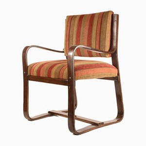 Vintage Italian Art Deco Bentwood Lounge Chair by Giuseppe Pagano for Maggion