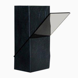 Black Slate Pedestal by Frederic Saulou