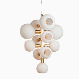 Piva Deckenlampe aus Spiegelglas von Marcele Muraro