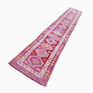 Türkischer Vintage Teppich in Rosa, Fuchsie, Orange & Rot, 1970er