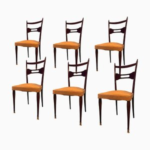 Rosewood & Mahogany Dining Chairs, 1950s, Set of 6