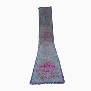 Alfombra de pasillo turca de lana, años 70