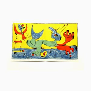 Litografía Playing Dog de Joan Miró, 1956