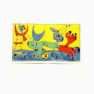 Playing Dog Lithografie von Joan Miró, 1956