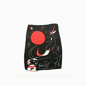 Litografia Night Sky di Joan Miró, 1956