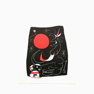Night Sky Lithografie von Joan Miró, 1956