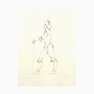 The Cane Lithograph by Leonor Fini, 1986