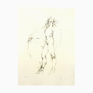 Litografía Fearless de Leonor Fini, 1986
