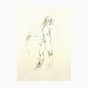 Litografia Fearless di Leonor Fini, 1986
