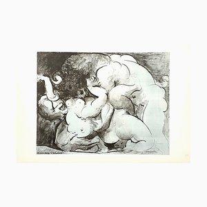Litografia Minotaur di Pablo Picasso, 1946