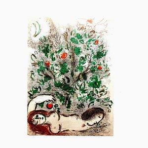 Litografía The Bible de Marc Chagall, años 60