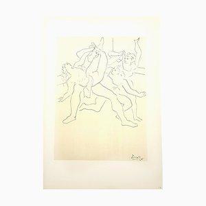 Litografia Four Ballet Dancers di Pablo Picasso, 1946