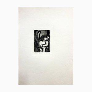 Grabado Ubu the King de Georges Rouault, 1929