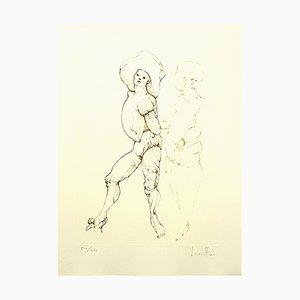 Friends Lithografie von Leonor Fini, 1986