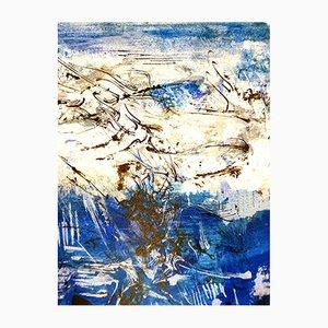 Composición litografía abstracta de Zao Wou-Ki, 1962
