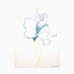 Lithographie La Danseuse Classique par Pablo Picasso, 1954