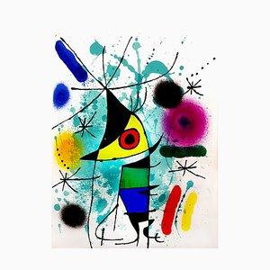 Abstract Lithografie von Joan Miró, 1972