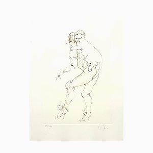 Litografía Heavy Cat de Leonor Fini, 1986