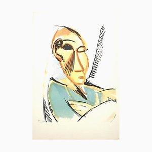 Litografía Study For Demoiselles d'Avignon de Pablo Picasso, 1946