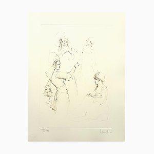 Litografía Servant de Leonor Fini, 1986