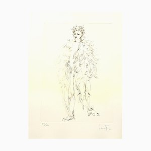 Angel Lithografie von Leonor Fini, 1986