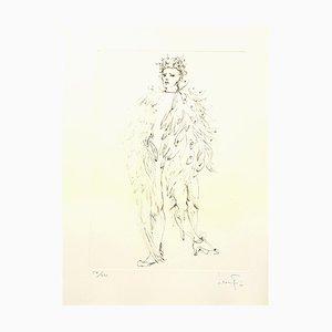 Litografía Angel de Leonor Fini, 1986