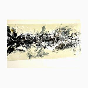 Lithographie Composition Abstraite par Zao Wou-Ki, 1962
