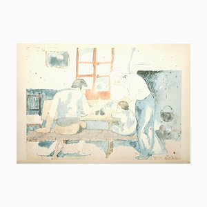 Family at Supper Lithografie von Pablo Picasso, 1946