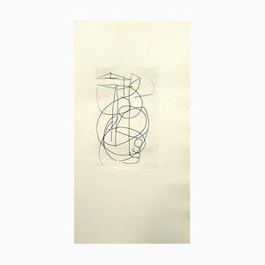Acquaforte Composition di André Lanskoy, anni '60