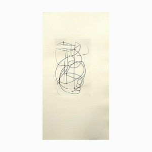 Composition Radierung von André Lanskoy, 1960er