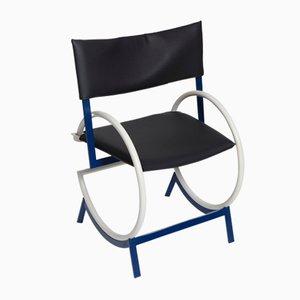 Vintage Stuhl aus Metall & Leder