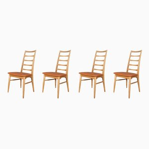 Model Lis Dining Chairs by Niels Koefoed for Koefoeds Møbelfabrik, 1970s, Set of 4