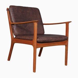 Modell PJ112 Sessel mit Gestell aus Teak von Ole Wanscher für Poul Jeppesens Møbelfabrik, 1960er