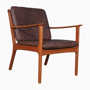 Teak Model PJ112 Lounge Chair by Ole Wanscher for Poul Jeppesens Møbelfabrik, 1960s