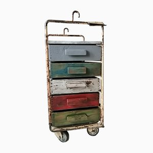 Mid-Century Industrial Trolley with Drawers, 1960s