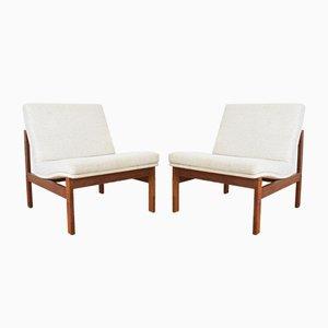 Sessel mit Gestell aus Teak von Ole Gjerløv-Knudsen & Torben Lind für France & Søn / France & Daverkosen, 1960er, 2er Set