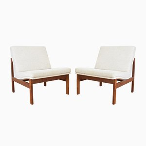 Teak Lounge Chairs by Ole Gjerløv-Knudsen & Torben Lind for France & Søn / France & Daverkosen, 1960s, Set of 2