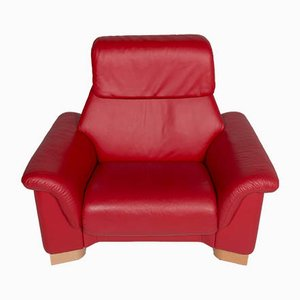 Vintage Red Leather Armchair from Stressless