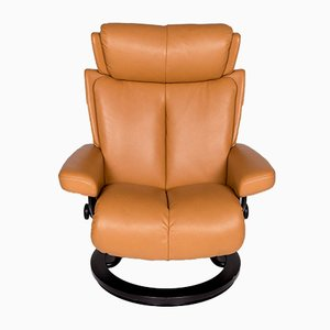 Vintage Mustard Yellow Leather Armchair from Stressless