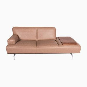 Vintage Beige Leather Model Toscaa 2-Seater Sofa from Willi Schillig