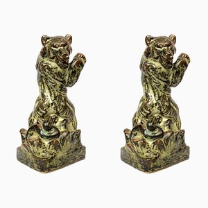 Mid-Century Stoneware Figurines by Knud Kyhn for Stonewear Bear, Set of 2