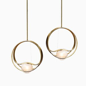 Brass SIngle Pulsar Ceiling Lamp by Cristina Celestino