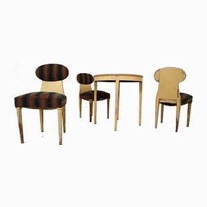 Antikes schwedisches Stühle & Beistelltisch Set