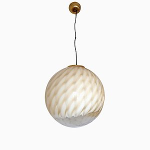 Large Mid-Century Murano Glass Ceiling Lamp by Toni Zuccheri for Venini, 1960s