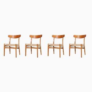 Modell 23 Esszimmerstühle von Hans J. Wegner für Carl Hansen & Søn, 1970er, 4er Set