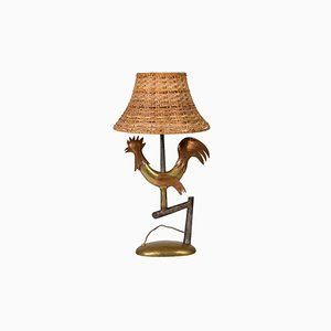 Wrought Iron Bird Table Lamp, 1940s