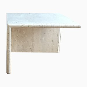 Italian Travertine Side Tables, 1970s, Set of 2